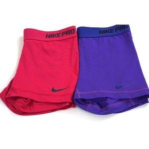 Nike Pro Dri-fit shorts size small bundle